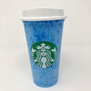 NEW Starbucks Cotton Candy Color Reusable Hot Cup